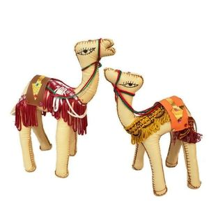 Pair of camel Mediterranean bohemian decor